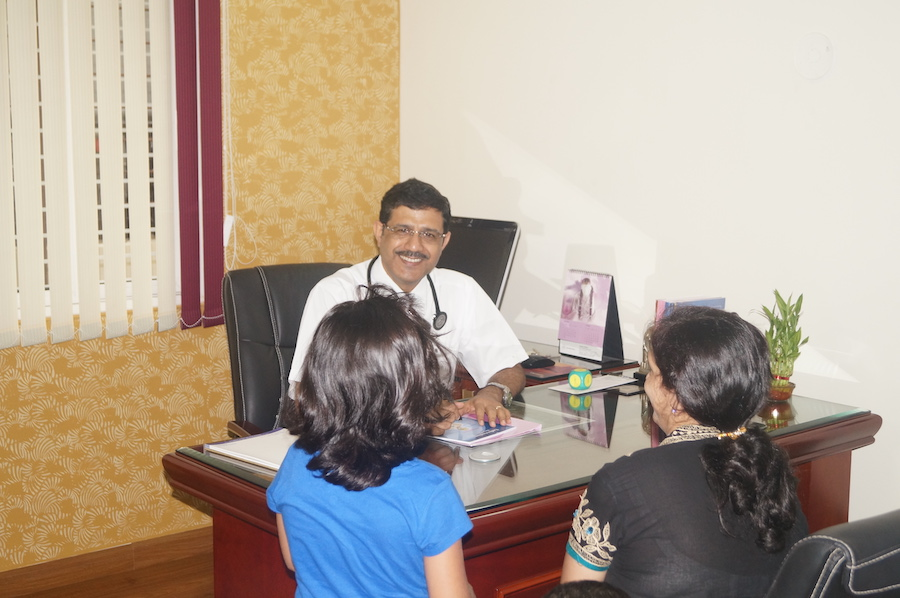 Dr. Arpan with patients