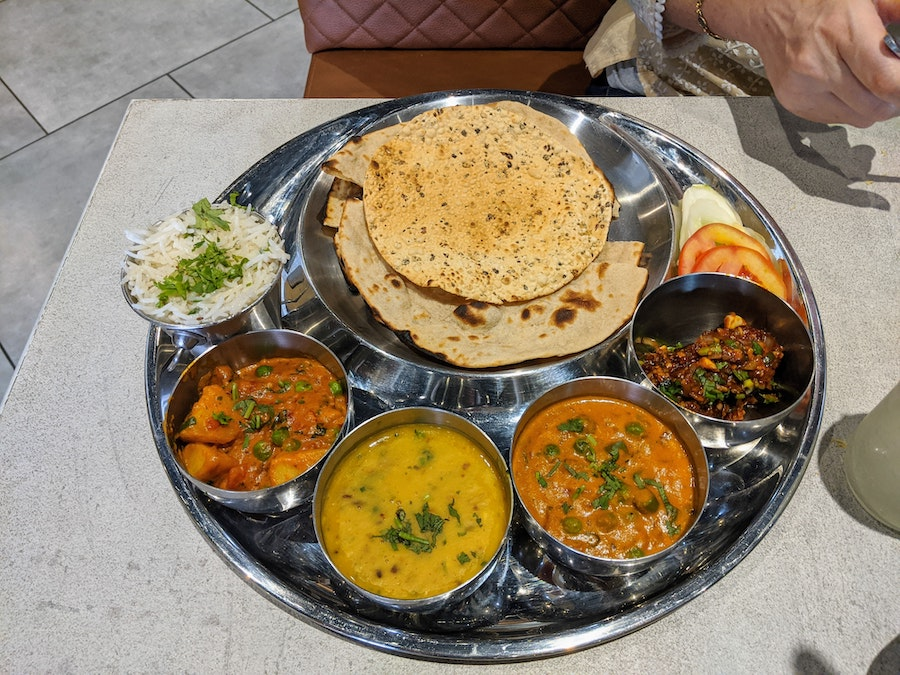 Indian food Thali. Photo by Leo Woessner from Pexels