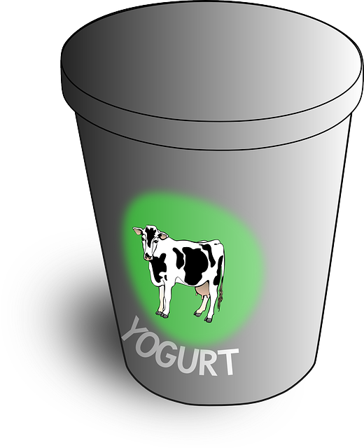 Yogurt. Image by OpenClipart-Vectors from Pixabay